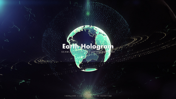 Videohive Low Gravity Earth Hologram 1 8946376