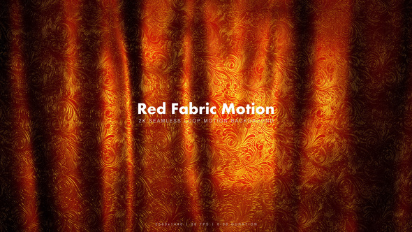 Videohive Red Golden Fabric 3 21141279