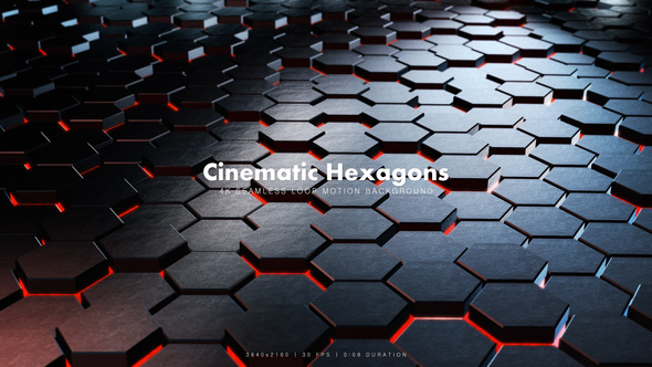 Videohive Cinematic Hexagons Red 10 19638309