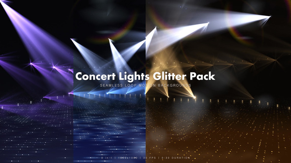 Videohive Concert Lights Glitter Pack 13754701
