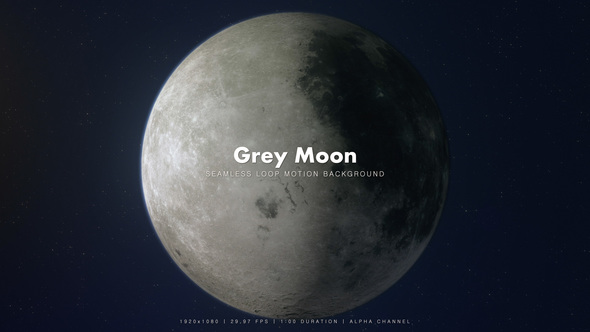 Videohive Grey Moon 360 Degrees Rotating 9226597
