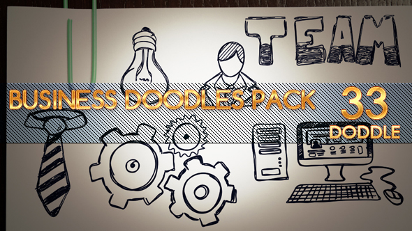Videohive Animated Business Doodles Pack 14223702