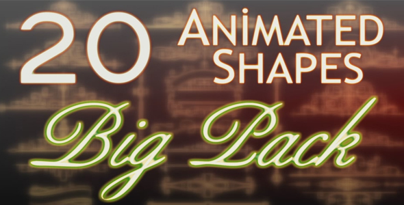 Videohive Animated Shapes Big Pack 13398489