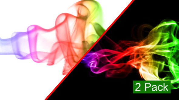 Videohive Abstract BG with Colored Real Smoke (2-Pack) (Stock Footage) 7031421