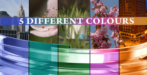Videohive 3D Overlay glass (5-different colours, pack-vol.2) 150522