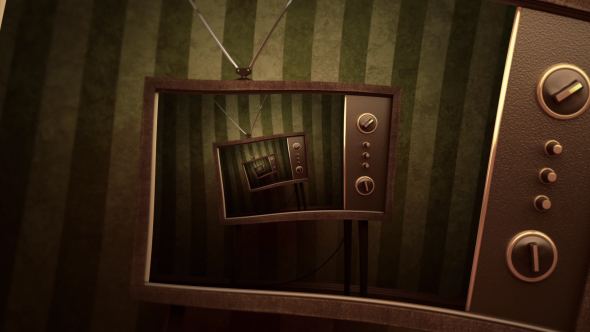 Videohive Retro Television Droste Background 19381857