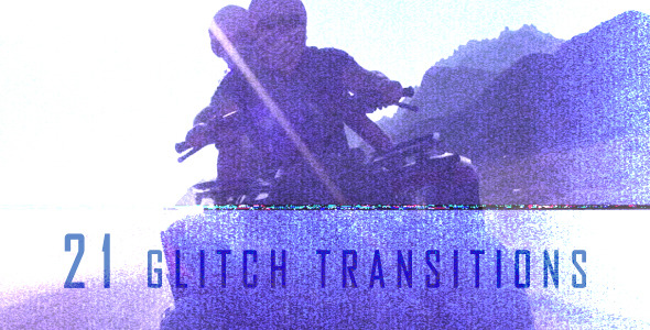 Videohive Glitch Transitions (21-Pack) 6185469