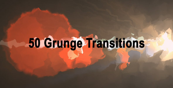 Videohive Grunge Transitions (50-Pack) 3959286