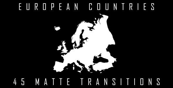 Videohive European Countries Matte Transitions 4873877
