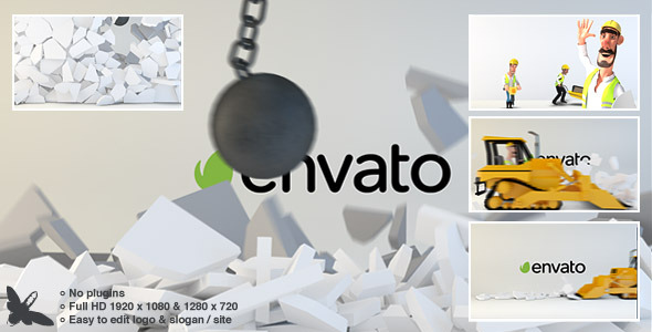 Videohive Wrecking Ball Logo 9295868