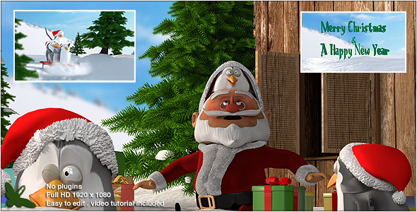 Videohive Christmas Penguins V2 13653477