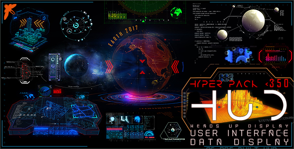 Videohive HUD Hyper Pack 350 20019347