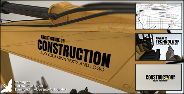 Videohive Construction Titles 13842324