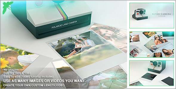 Videohive Retro Camera Slideshow 10675417