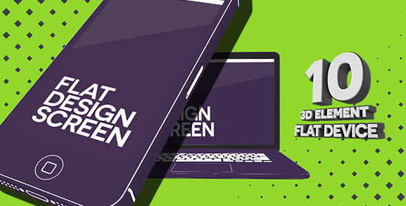 Videohive Flat Device Element 3D Pack 6757840