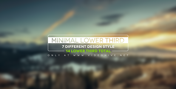 Videohive Minimal Lower Thirds 12237756