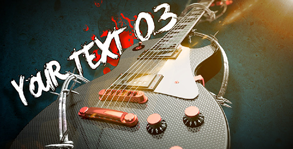 Videohive Rock Guitar Text Opener 3735860