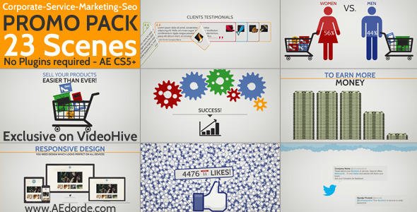 Videohive Corporate / Service / Marketing / Seo Promo Pack 5866444