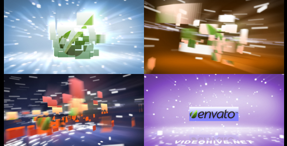 Videohive Flying Blocks 164314
