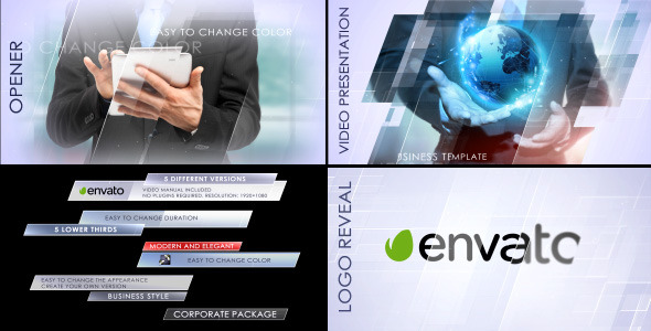 Videohive Clean Corporate Package 10922241