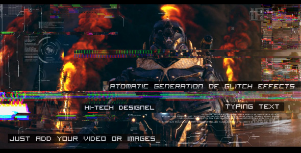 Videohive Glitch Auto Generation and Typing 19677227