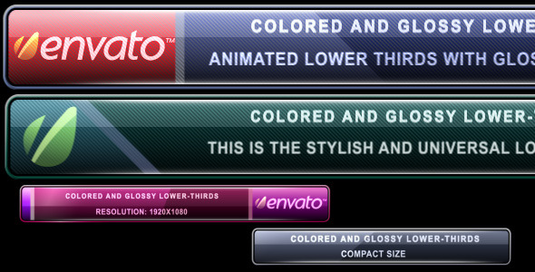 Videohive Colored and Glossy Lower-Thirds 248134