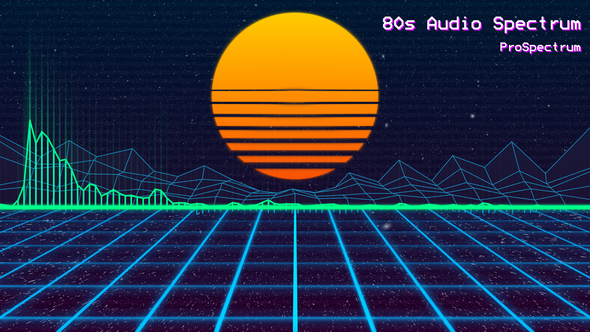 Videohive 80s Audio Spectrum 21427327