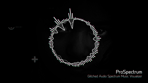 Videohive Glitched Audio Spectrum Music Visualizer 19850765