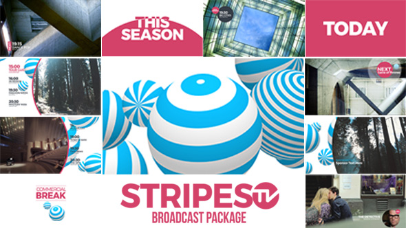 Videohive Stripes tv Broadcast Package 14913952