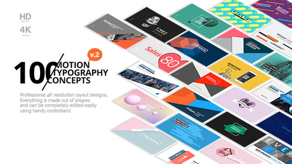 Videohive 100 Motion Typography Concepts v2 21141394