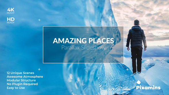 Videohive Amazing Places Parallax SlideShow 21634487