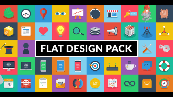 Videohive Flat Design Pack 20201152