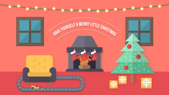 Videohive Flat Christmas / New Year Wish 20908804