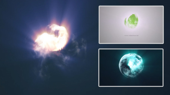 Videohive Quick Abstract Colorful Smoke Vortex - Logo Reveal 7974431